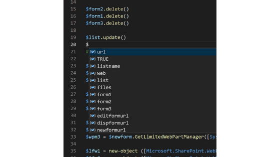 Visual Studio Code IntelliSense