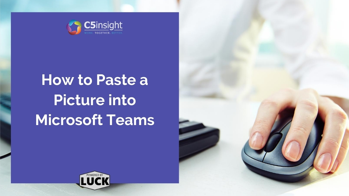 How to Paste a Picture into Microsoft Teams women clicking mouse