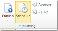 SharePoint Publishing Scheduling
