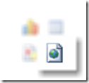 Web resources icon within dashboard component area