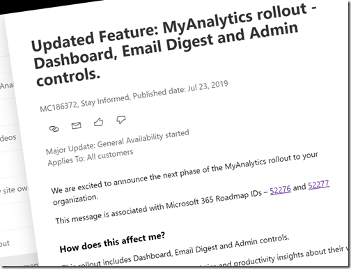 Office 365 MyAnalytics Available for the Masses!