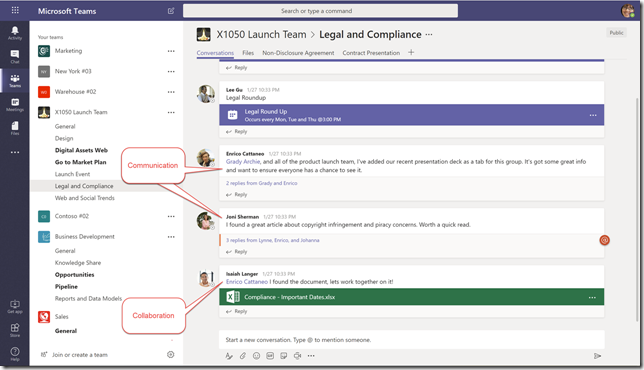 Communcating and Collaborating in Microsoft Teams