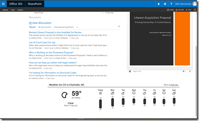 Dark Sky Weather on a SharePoint Page