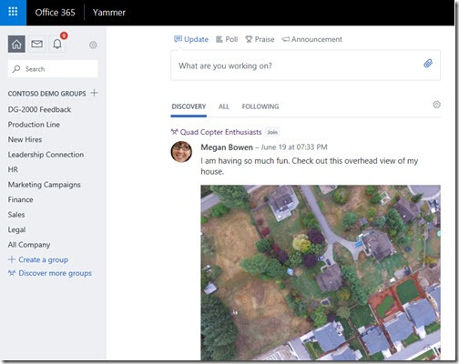 Enterprise Social Screen Shot