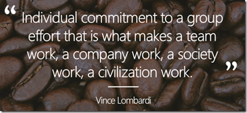 Vince Lombardi Quote on Teamwork