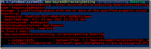 PowerShell Script to Disable Create Groups Office 365