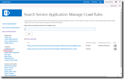 SharePoint 2013 search crawl exclusion rules