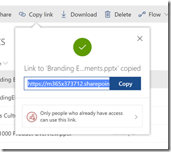 SharePoint Online sharing People with existing access