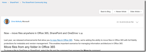 Office 365 on the Microsoft Technical Community SharePoint Blog