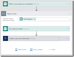 Screenshot - Microsoft Flow to map Microsoft Form to Microsoft Dynamics 365