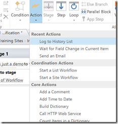 SharePoint 2013 workflow actions