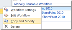 Customize an OOTB Reusable 2010 workflow