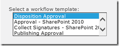 Using the Default SharePoint Workflows