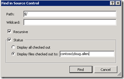 Find in Source Control in TFS Power Tools