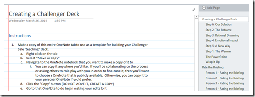 eWorkbook - Creating a Challenger Executive Learning Deck