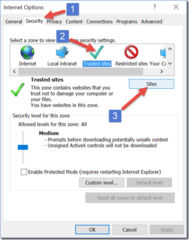 Browser settings to get Insights by InsideView to work with Microsoft Internet Explorer