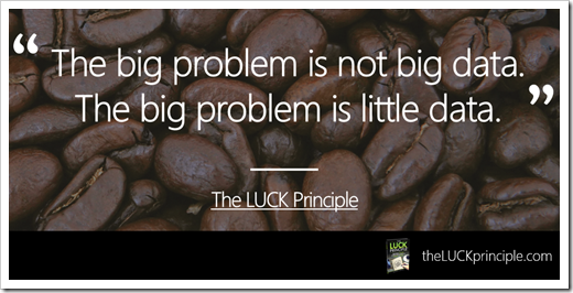 Quote - the big problem with big data