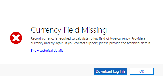 Currency Field Missing Dynamics 365