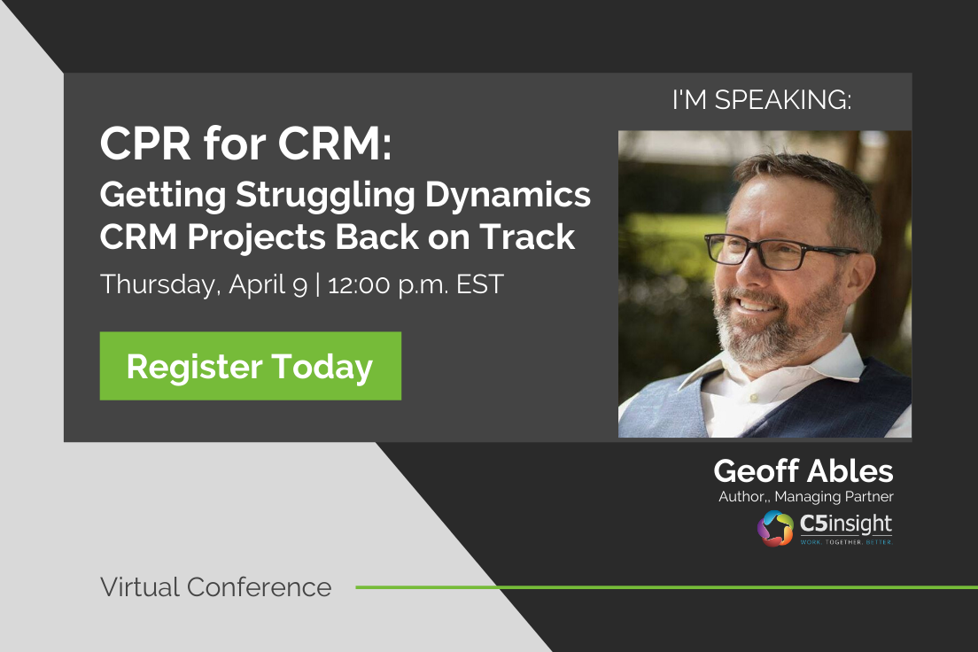 Geoff Ables virtual training CPR for CRM projects